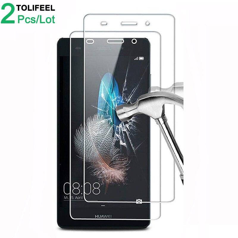 2 шт закаленное стекло для Huawei P8 Lite 2015 протектор экрана 9H 2.5D телефон на Защитное стекло для Huawei P8 Lite стекло