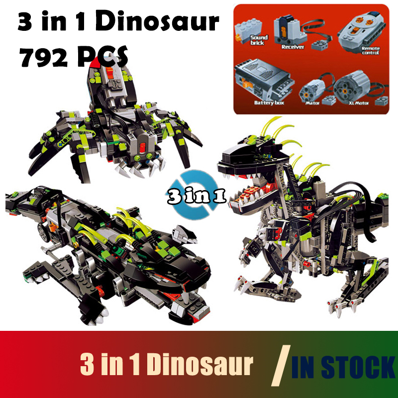 Compatible with Lego Technic Model building blocks 24010 792pcs 3 in 1 Dinosaur RC Sound Function 4958 Bricks toys for children compatible with lego technic creative lepin 24011 1344pcs 3 in 1 highway transport building blocks 6753 bricks toys for children