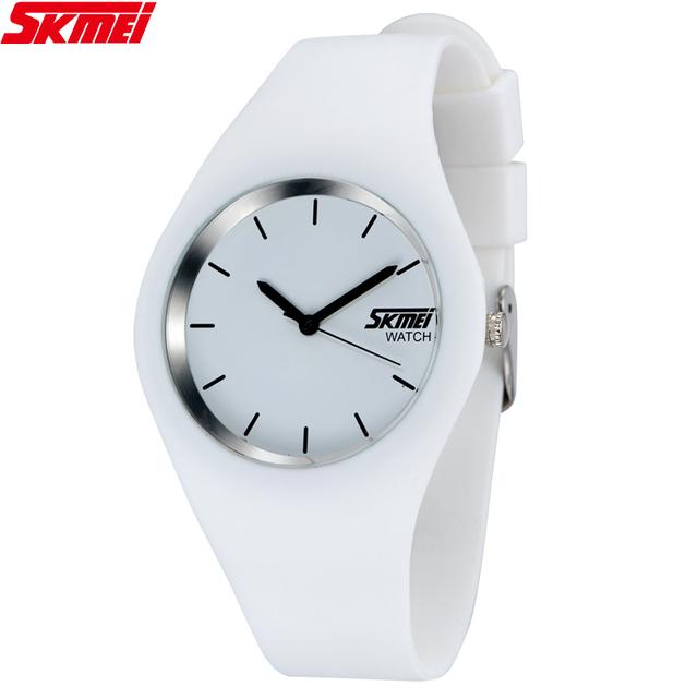 2017 Skmei Quartz-watch Fashion Men Casual Watches Quartz Watch Women Waterproof Jelly Female Clock Hours Ladies Women Watches