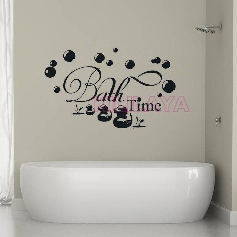 Diy Vinyl Wall Stickers For Bathroom Shower Room Bubble Duckling
