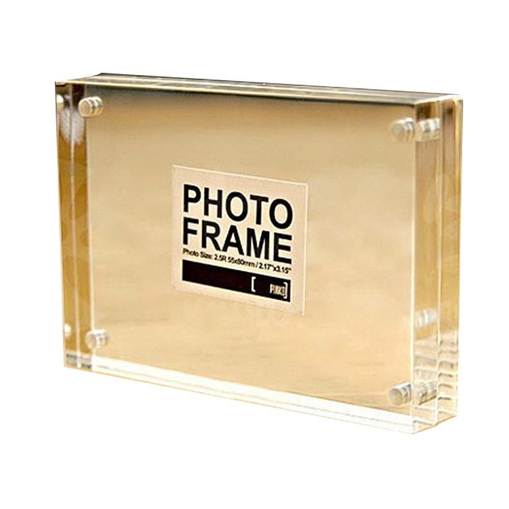 GUHD Marco de acrílico marcos de fotos magnética Pantalla de doble ...