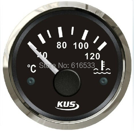 52mm water liquid fuel oil temperature gauge meter  for vehienlar rv marine car general yacht motor boat instrument accessories s3 e300mm 0 190ohm float switch fuel water oil liquid tank motion level sensor gauge for auto boat marine car yacht accessories
