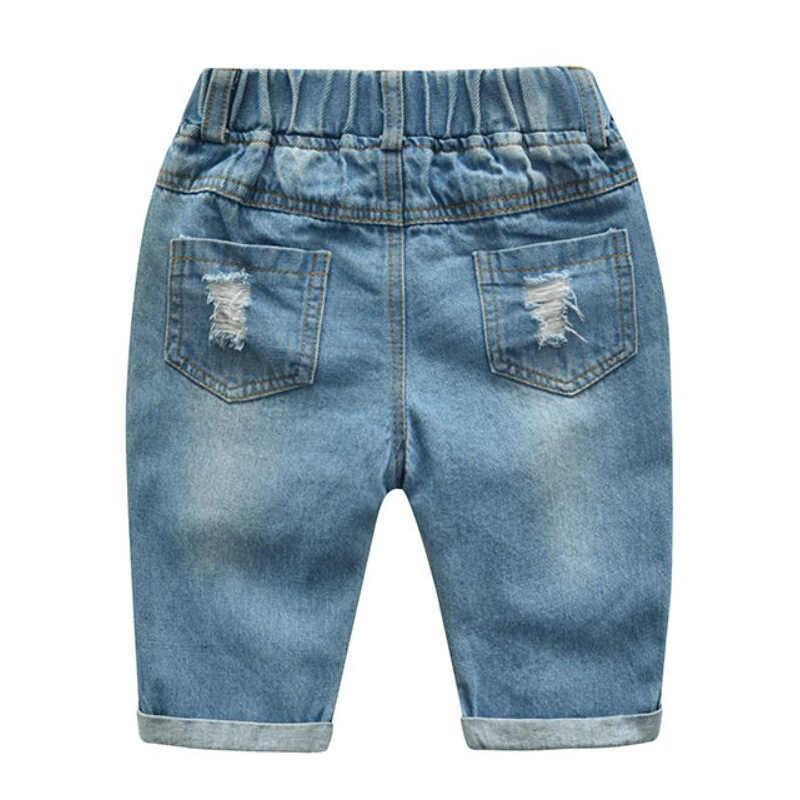 Kinderen Kleding Jongens Zomer Cartoon Mickey Shorts Denim Broek Sport Pak Baby Kids Korte Mouw T-shirt Jeans Kleding Sets