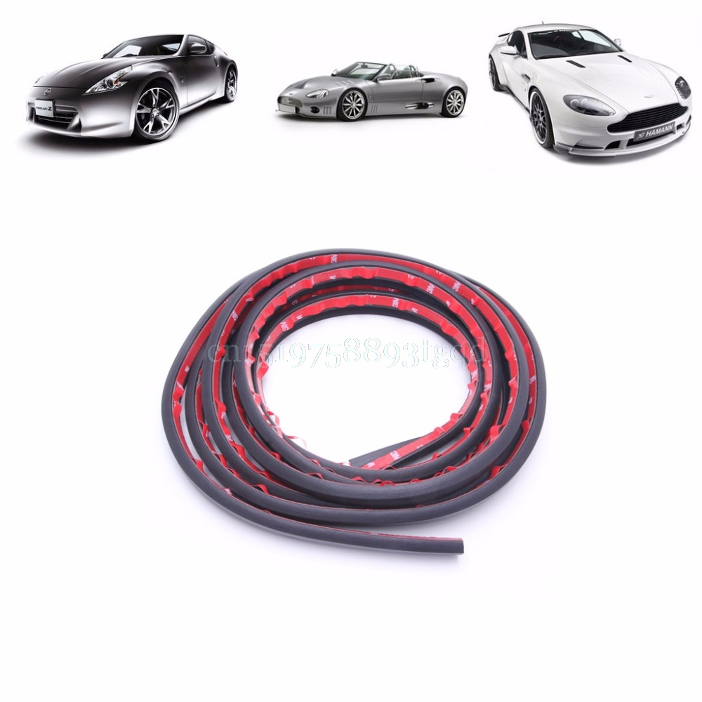 4m P Shape Car Door Rubber Weather Seal Strip EPDM Noise Insulation Weatherstrip