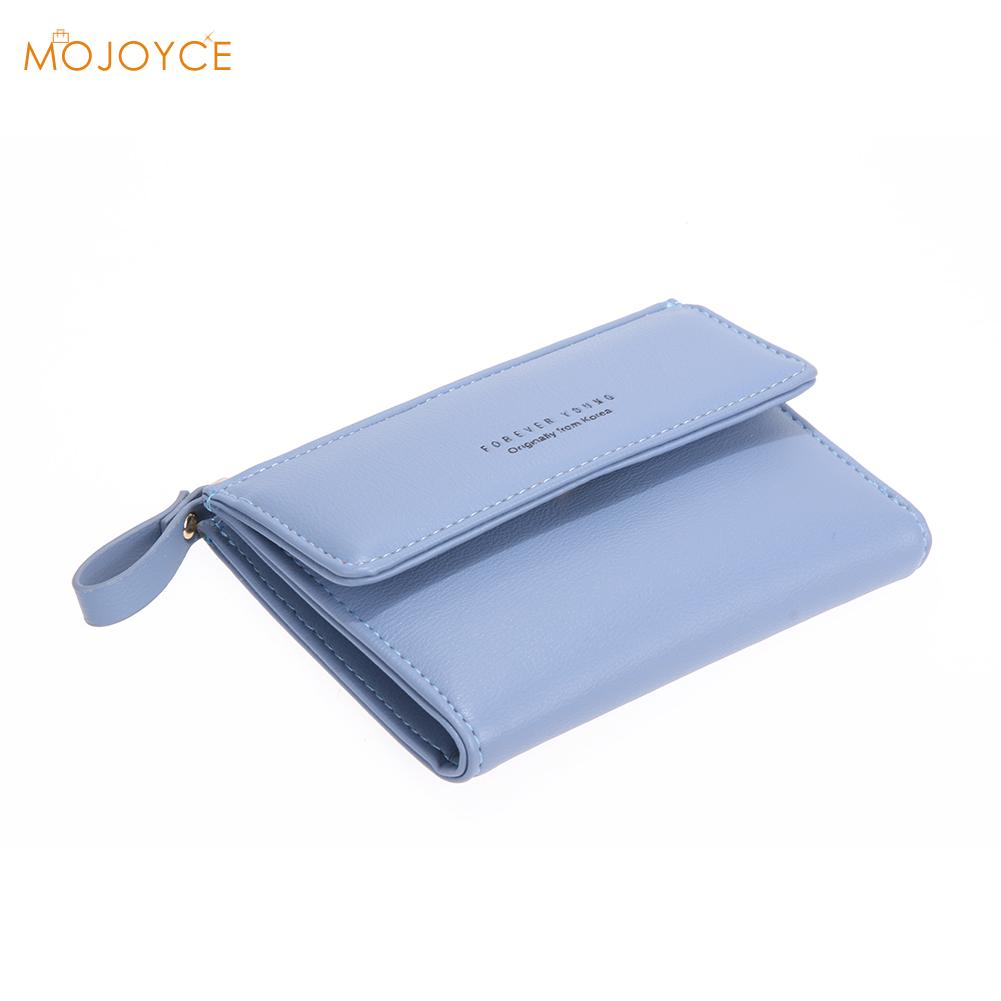 Women PU RFID Anti-magnetic Wallet Short Solid Color Change Purse Hot Female Anti-theft Short Wallet Zipper Card Coin Holder