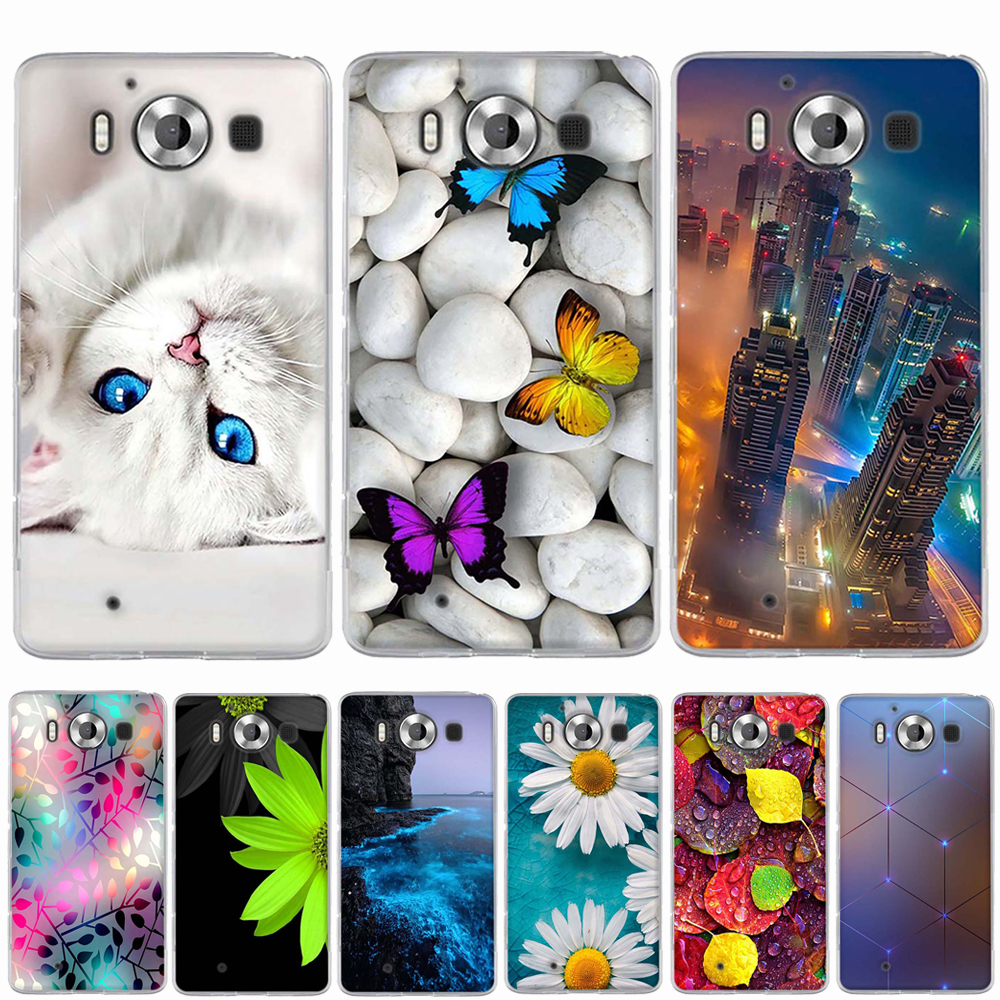 For Nokia Microsoft Lumia 950 3D Relief Painting TPU Soft Cover Back Cover for N