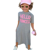 Girl Dress Summer Letter Hello Princess Kids Dresses For Girls Clothes Outfits 2017 New High Quality