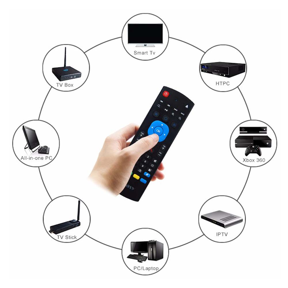 2.4G Wireless Keyboard 6-Axis Motion Sense Air Mouse IR Learning Remote Control for Smart TV Android TV BOX Laptop PC original t2 air mouse 2 4g wireless mini keyboard 3d sense motion remote controller t2 air mouse for android smart tv box pc