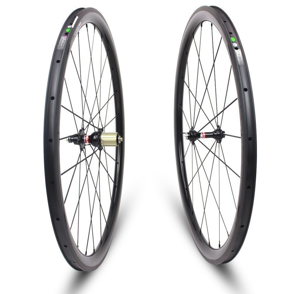 Low Profile 38mm Depth Carbon Road Bike Wheels Tubeless/ Tubular/ Clincher wheelset With Pillar 1420 Spoke And Chosen 7187 Hub стоимость