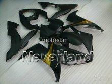 Матовый черный/золото кузова для 2004 2005 2006 YZF R1 04 05 06 YZF-R1 YZFR1 1000 yzf1000 обтекателя kit