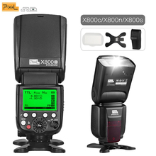 PIXEL X800C N S 2.4G Wireless GN60 Master/Slave TTL Camera Flash for Canon Nikon Sony Pentax DSLR Camera as Godox TT600 YN560III godox tt600 gn60 2 4g wireless camera flash speedlite with built in trigger system for canon nikon pentax olympus fuji sony