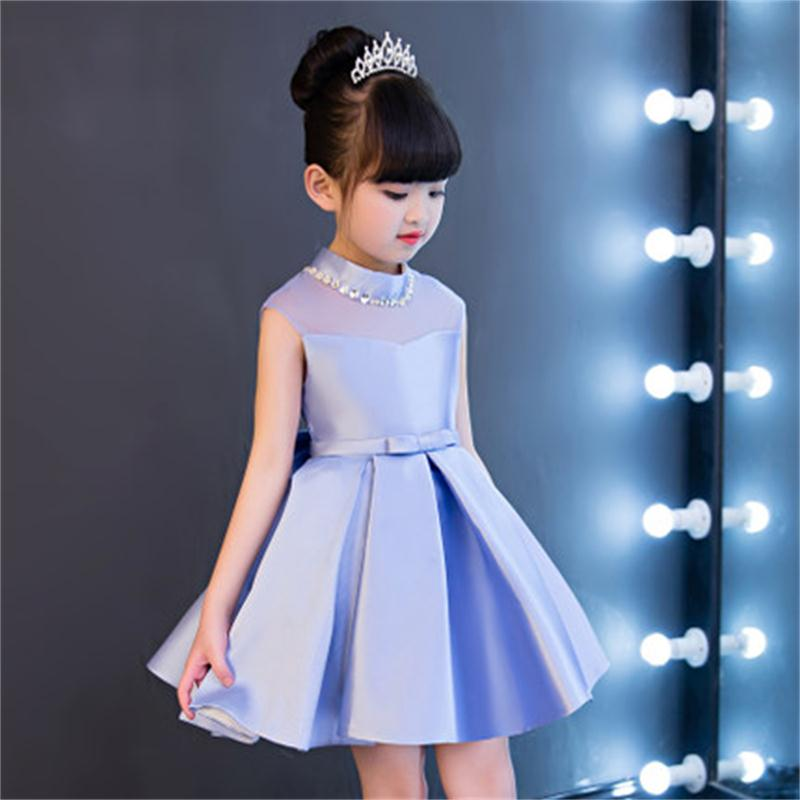 все цены на High quality children's dress princess dress flower girl dress girl birthday dress girl host catwalk show dance costumes онлайн