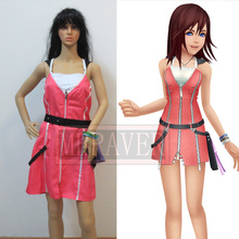 Kingdom Hearts II 2 KAIRI Cosplay Costume pink dress Free Shipping