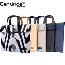 Hot Cartinoe Waterproof Laptop Bag 12 13 14 15 15.6 Laptop Sleeve case for Macbook Air Pro 13 15 Handbag Briefcase Bag Women Men цена