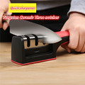 Envío Directo afilador de cuchillos rápido profesional de tungsteno diamante piedra de afilar 3 etapas antideslizantes utensilios de cocina para el hogar