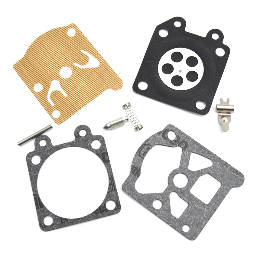 1SET Chainsaw Carburetor Carb Repair Kit For Partner 350 351 Replacement Parts black throttle base cover carburetor for honda trx350 atv carburetor trx 350 rancher 350es fe fmte tm carb 2000 2006