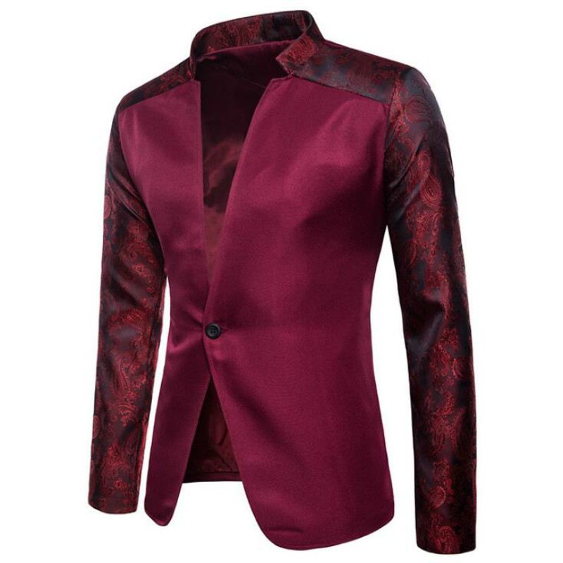 European and American men's suits autumn and winter models solid color body raglan sleeves design one button men's lapel suit