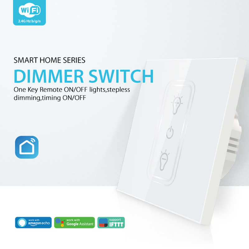 Wifi регулятор яркости освещения Смарт трогательный выключатель света лампочка с регулированием яркости совместимый для Amazon Alexa-лад по доступной цене