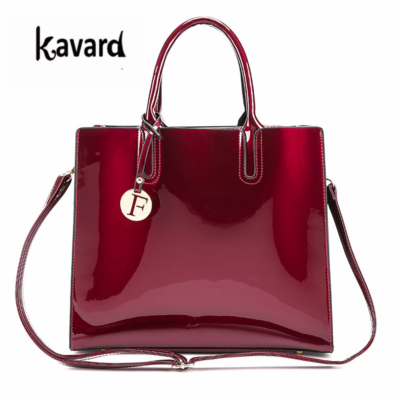 luxury designer Red Patent Leather Tote Bag Handbags Women Famous Brand Lady's Lacquered Handbag bags for Women Shoulder Bag Sac 2017 women bag famous brand designer sac luxury handbag women bag leather shoulder bag women crossbody bag for women s handbags