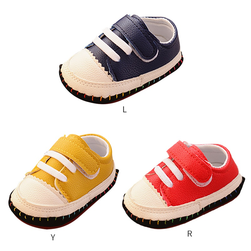 Baby Shoes Color-Stitching-Shoes First-Walkers Toddler Boys 0-18M Soft-Bottom Newest