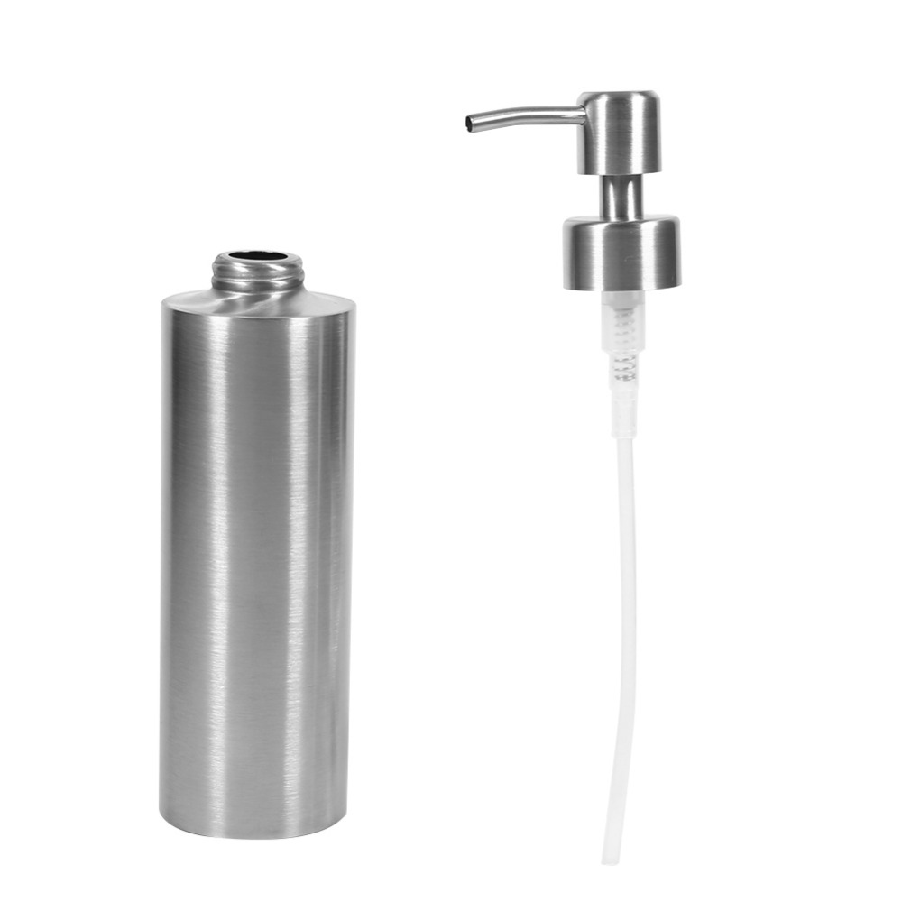 Automatic Soap Dispenser Kitchen Sink Faucet Bathroom Shampoo Box Soap Container Soap Dispens 350ml Stainless Steel