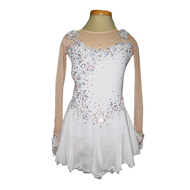 New Ice Figure Skating Dress  For Competition Spandex mesh lycra