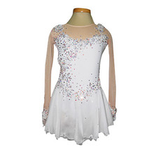 Custom Figure Ice Skating Dresses Adult With Spandex Graceful New Brand Figure Skating Competition Dress DR2594