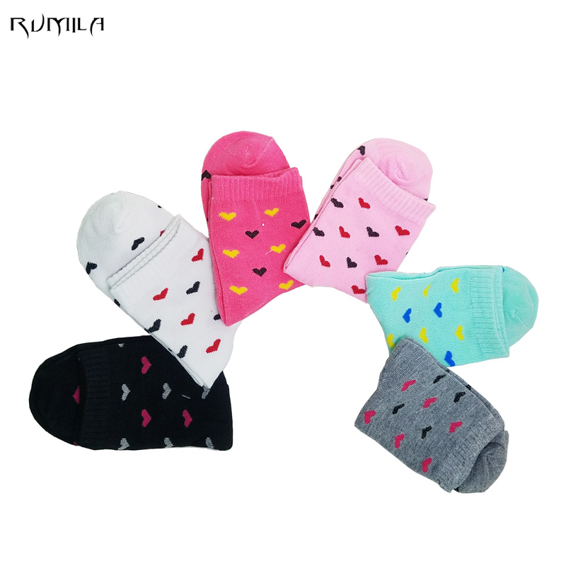 Warm comfortable cotton bamboo fiber girl women's socks ankle low female invisible  color girl boy hosiery  10pair=5pcs WS49