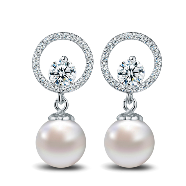Free shipping designer elegant simulated pearl earrings white gold free shipping designer elegant simulated pearl earrings white gold color round cz crystal chandelier earring aloadofball Gallery