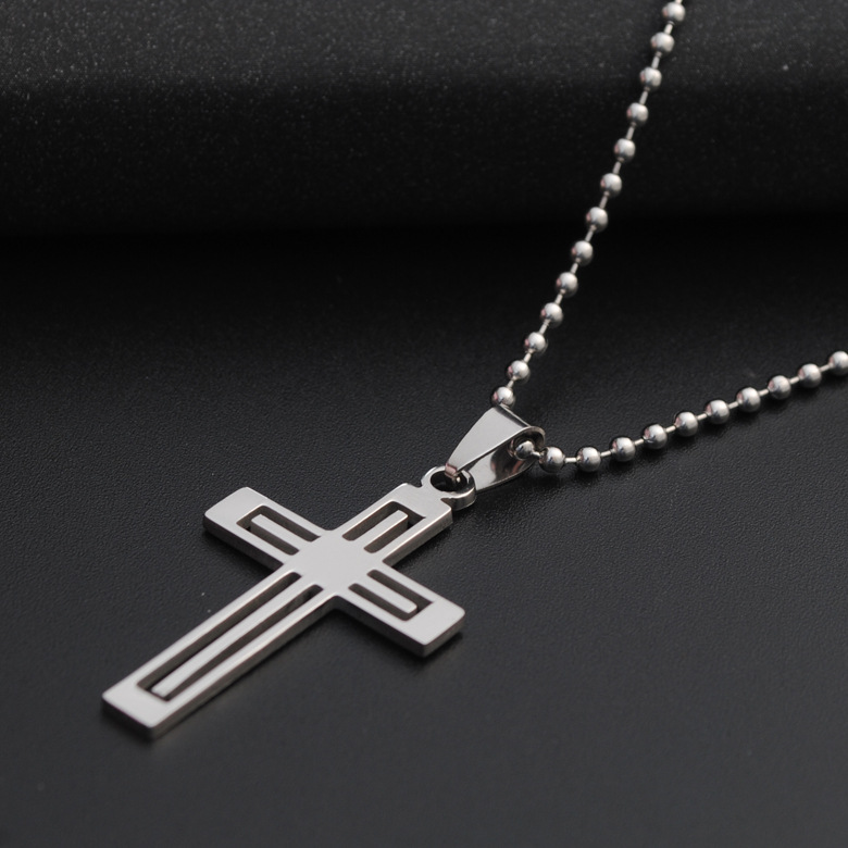 Stainless Steel Multilayer Cross Religious Necklace Jesus Faith Multi-layer Cross charm Necklace Hospital Life Symbol Necklace Jewelry