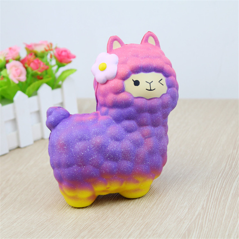 Jumbo Sheep Squishy Cute Alpaca Super Slow Rising Scented Fun Animal Toys Slow Rising Scented Relieve Stress Toy Gifts jumbo squishy cute glasses bear scented charm super slow rising squeeze toy