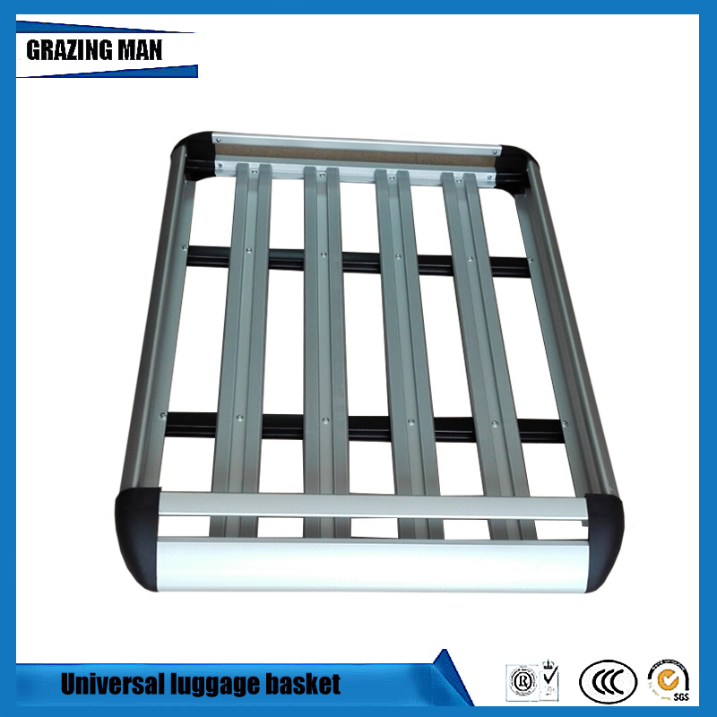 Car Roof Frame Aluminum Roof Rack Universal Roof basket Travel Frame Double layer Luggage box 127*90 cm