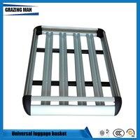 Quadro de telhado do carro de alumínio rack de teto universal cesta de viagem quadro dupla camada bagagem caixa 127*90 cm