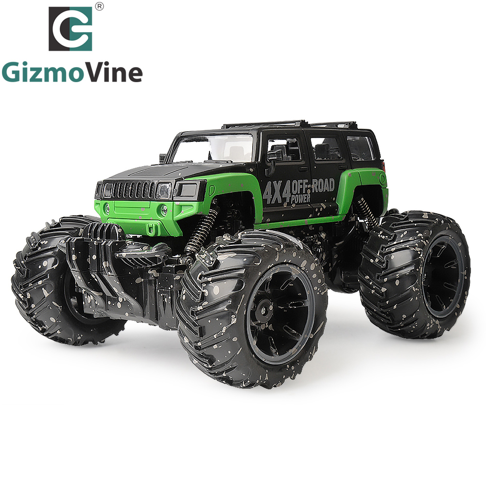 GizmoVine RC Car 2.4G 1:16 Scale Rock Crawler Car Supersonic Monster Truck Off-Road Vehicle Buggy Electronic Toy For Kids Gift