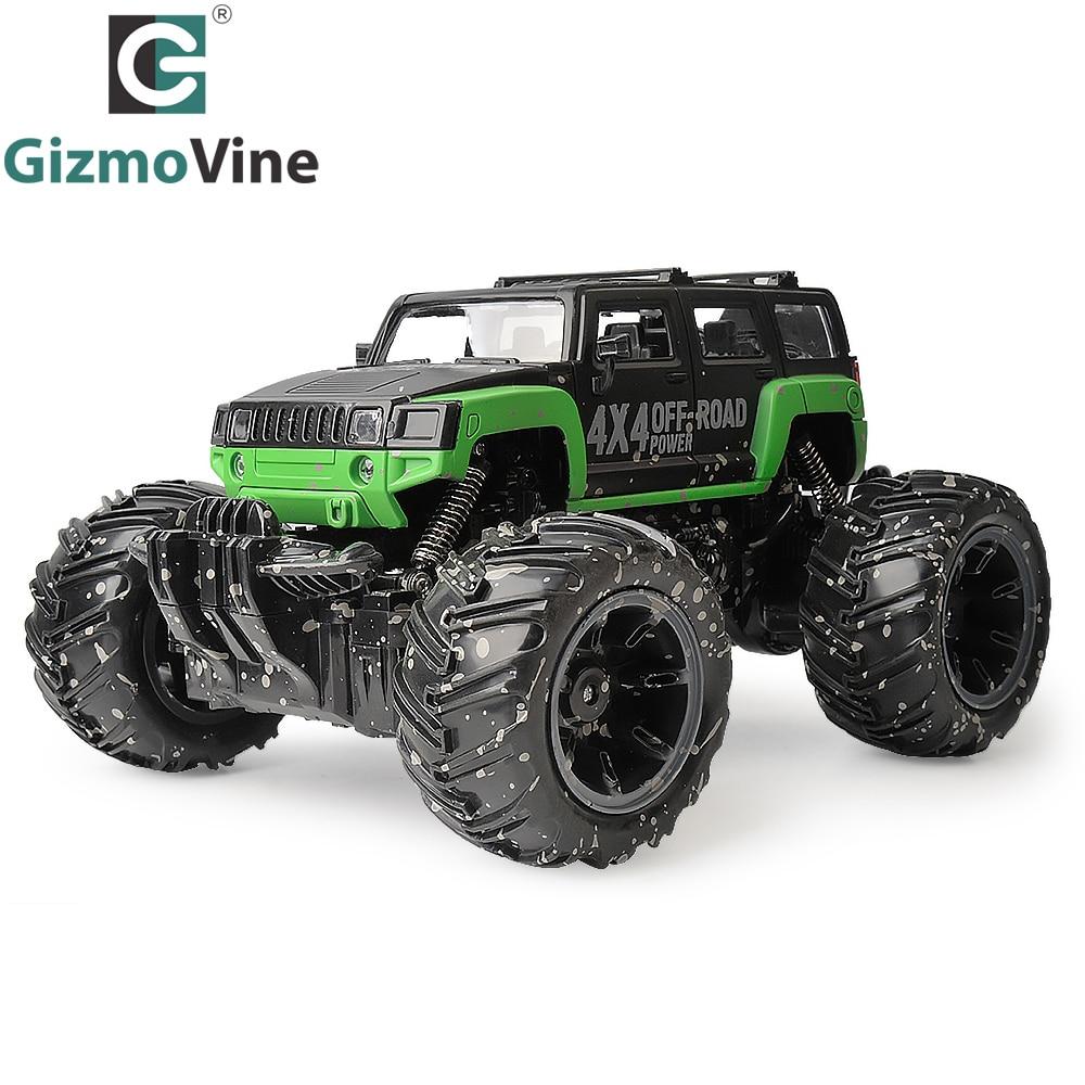Gizmovine RC автомобилей 2.4 г 1:16 Весы рок-гусеничный автомобиль сверхзвуковой Monster Truck Внедорожник Багги электронные игрушки для детей подарок