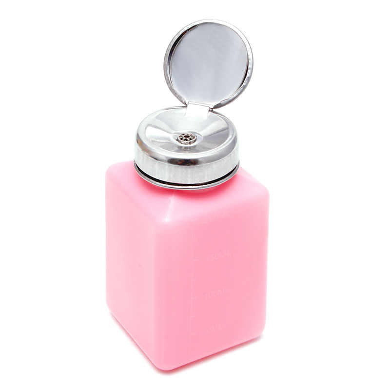 200ml Empty Container Cleaner Nail Polish Remover Liquid Press Pump Dispenser Bottle