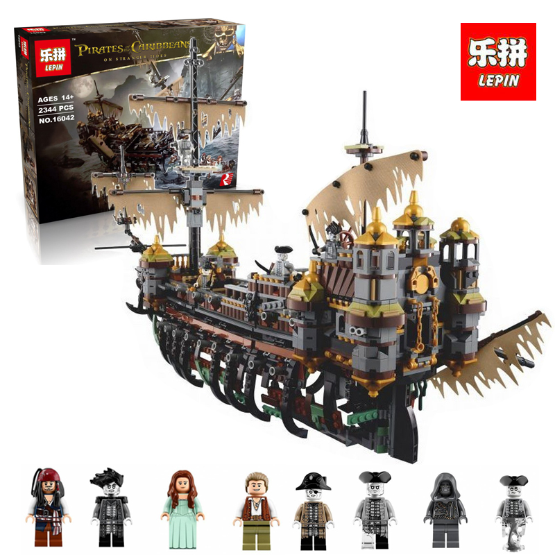Lepin 16042 2344Pc New Pirate Ship Series The Slient Mary Set Children Educational Building Blocks Bricks legoINGlys 71042 lepin 16042 pirate ship series the slient mary set legoingys 71042 children educational building blocks bricks toys gift