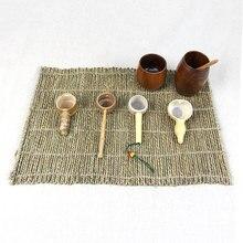 48×34 cm hanf seil Weben tischsets rechteck Handgemachte Tasse Matte vintage Für Kungfu Tee-Set Untersetzer Dekoration tischsets
