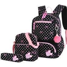 3 sztuk/zestaw drukowanie torby szkolne plecaki tornister moda dzieci cudowny plecak dla dzieci dziewczęcy tornister Student Mochila sac