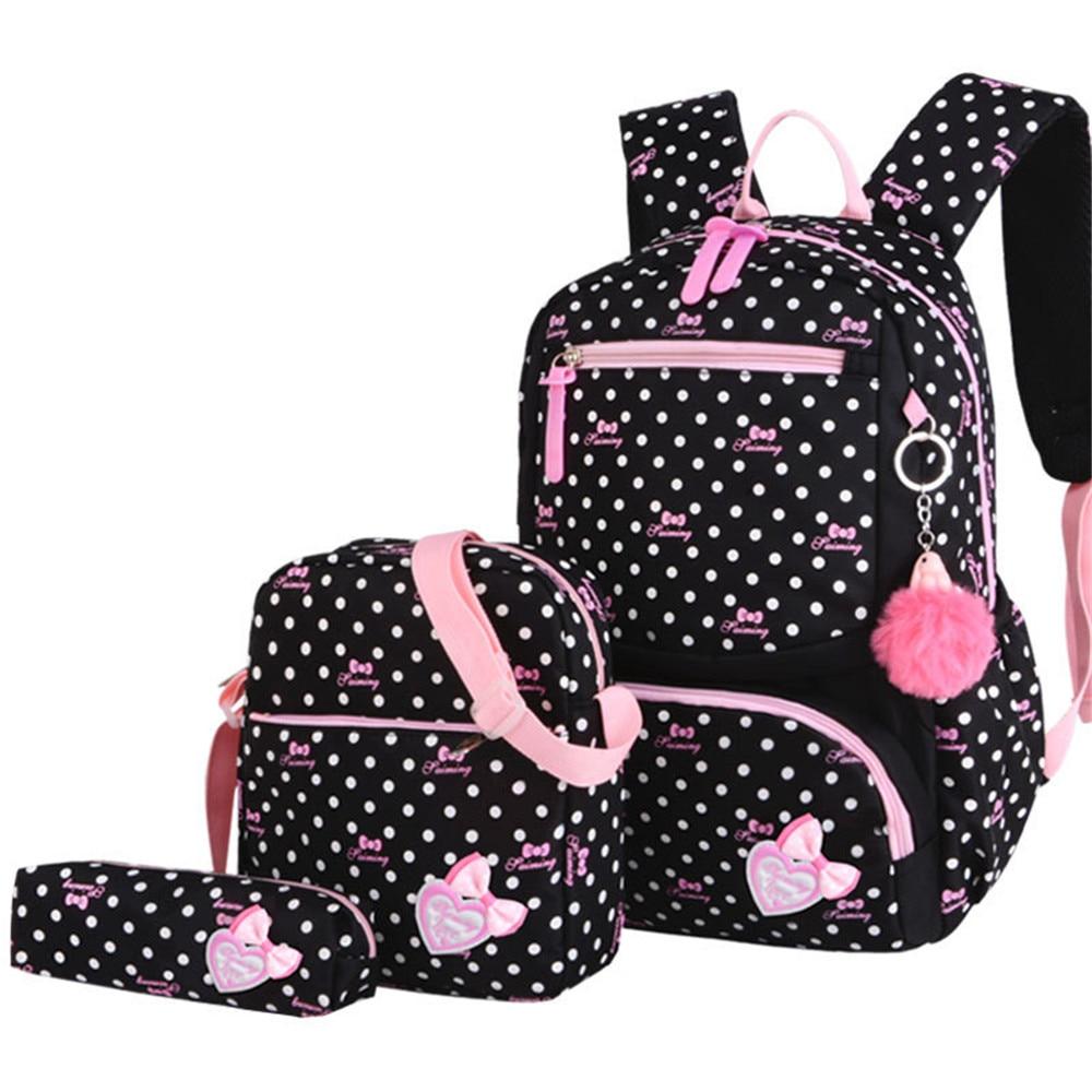 3pcs/set Printing School Bags Backpacks Schoolbag Fashion Kids Lovely Backpack For Children Girls School Bag Student Mochila Sac