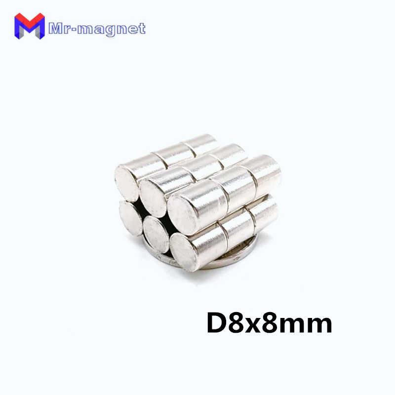 500 шт 8x8 мм неодимовые магниты D8x8mm 8*8 диск супер сильный мощный редкоземельных D8x8