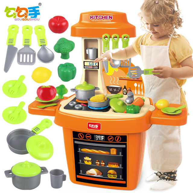 House Kitchen Toys Kid Cooking Utensils And Tableware Set Kids Gift New Year