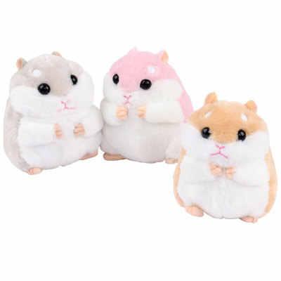 10 cm Sevimli peluş oyuncaklar Yeni sevimli yumuşak peluş hamster bebek takı çanta anahtar kolye açma makinesi peluş hamster bebek