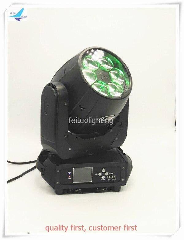 free shipping 2pcs Mini LED Bee Eye Zoom 6x40w Moving Head Light Lyre Wash Beam RGBW 4IN1 Show Decor Stage Disco Club Lighting