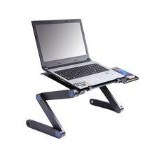 Mesa portátil de aleación de aluminio, mesa portátil ajustable, escritorio plegable para ordenador, escritorio para estudiantes, dormitorio, portátil, bandeja de soporte para sofá cama