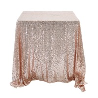 SMOPOR Rose Gold Sequin Embroidered Round TableCloth For Wedding Party Table Cloth Decoration DIning RECTANGULAR TableCover