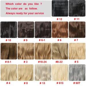 Самкоса для наращивания волос 24 дюйма вязанные крючком косички синтетические косички заколки для волос в одной части вязаные волосы 190 г