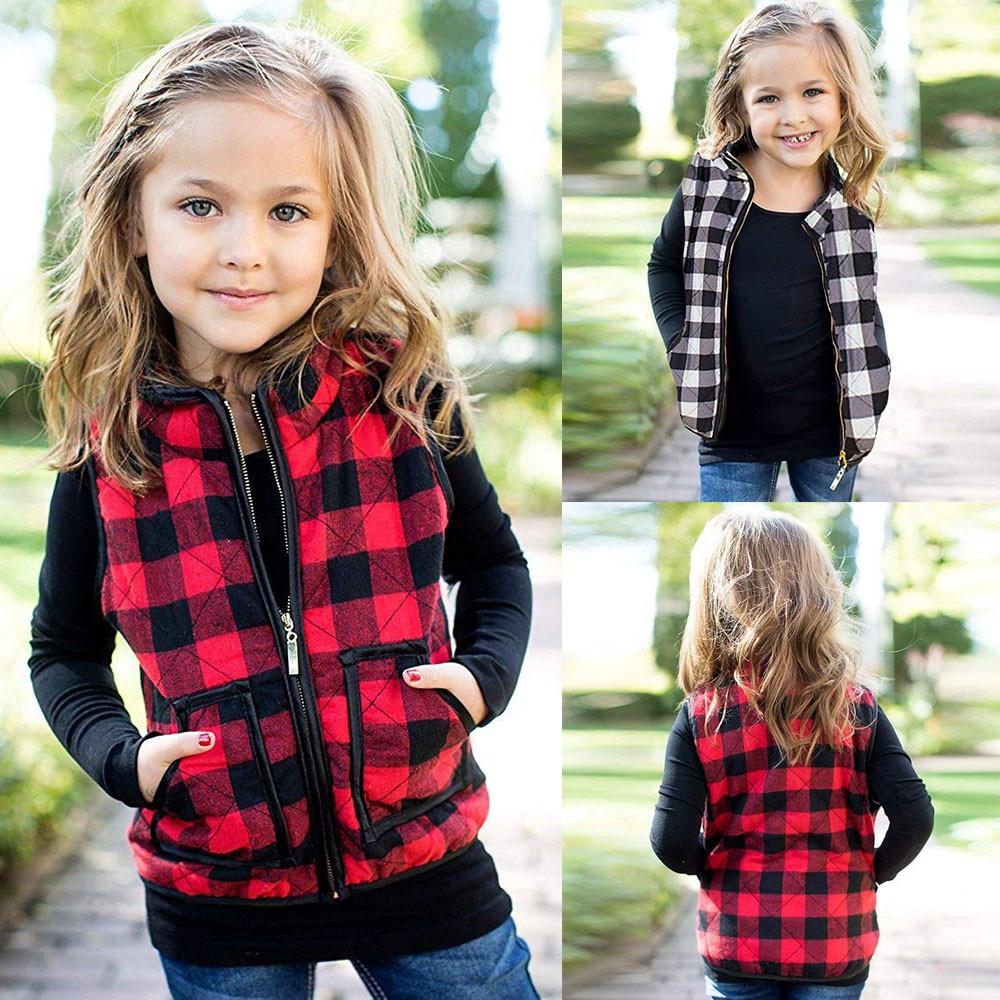 Jacken & Mäntel Kreativ Neue Mädchen Kinder Kleidung Faux Pelz Weste Weste Baby Mädchen Warme Winter Mantel Outwear Jacke Kleidung 6 Mt-5 T Letzter Stil Mädchen Kleidung