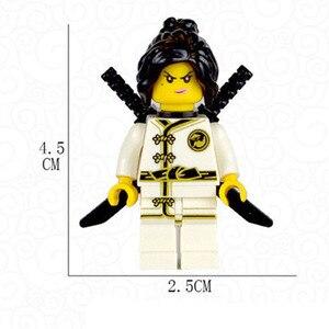 Image 2 - 8 قطعة النينجا وو لويد زين كاي كول جاي نيا بطل بنة فيلم عمل لعبة الطوب ninjaful الشكل مجموعة