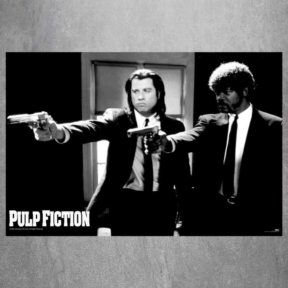 Pulp Fiction Shooting Canvas Art Print Painting Poster Wall Pictures ...